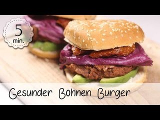 Vegane Burger Patties aus Kidneybohnen - Vegane Burger Buns Rezept - Burger Vegan | Vegane Rezepte