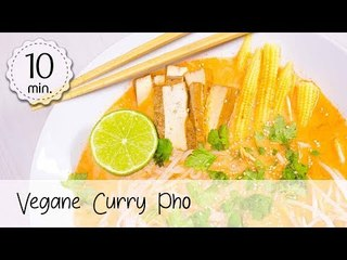 Vegane Curry Pho einfach & gesund - Pho Rezept Vegan - Asiatisches Suppen Rezept! | Vegane Rezepte