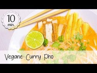 Vegane Curry Pho einfach & gesund - Pho Rezept Vegan - Asiatisches Suppen Rezept!   Vegane Rezepte