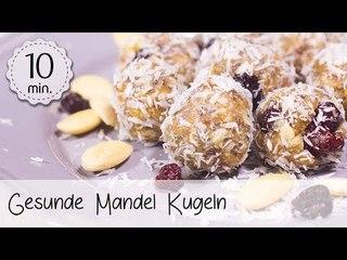 Gesunde Mandel Kugeln (überraschend lecker!) - Vegane Bliss Balls selber machen!   Vegane Rezepte