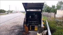Le radar mobile installé sur la D112, entre Laneuveville et Ville-en-Vermois,  de nouveau incendié