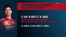 Charles Leclerc le plus jeune vainqueur de grand prix chez Ferrari
