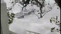 Alors que l'ouragan Dorian approche, les premières images d'importantes vagues aux Bahamas