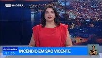 Incêndio em São Vicente combatido por Bombeiros e o Helicóptero de combate a incêndios