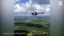 Ce pilote d'hélicoptère s'amuse à faire des backflips... Incroyable