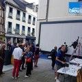 À Rennes, une nouvelle oeuvre de street-art : la performance de l'artiste français Blek Le Rat