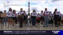 """Les images du rassemblement à Paris pour dénoncer le """"100e féminicide"""" de l'année"""