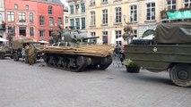 Tanks un Mons. Pour les amateurs militaires du spectacle  sur la Grand Place. Vidéo Eric Ghislain p