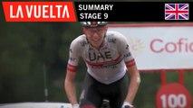 Summary - Stage 9   La Vuelta 19
