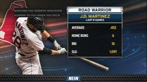 J.D Martinez Posts Ridiculous Numbers During Red Sox's Road Trip