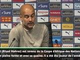 """4e j. - Guardiola : """"Mahrez a quelque chose de spécial"""""""