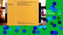 Fiscal Institutions and Fiscal Performance (National Bureau of Economic Research Conference