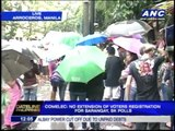 Chaos in Manila as Comelec denies registration extension