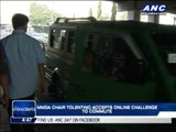 MMDA chief accepts online challenge to ride jeep