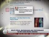 Miley Cyrus shocks celebs, fans at VMAs
