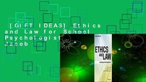 [GIFT IDEAS] Ethics and Law for School Psychologists by Susan Jacob