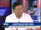 Almendras: Aquino's funds clearly defined, spent wisely