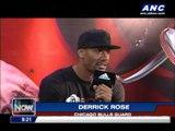 Derrick Rose in Manila for world tour