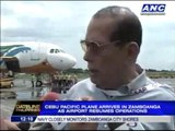 CebuPac plane arrives in Zambo as airport resumes ops