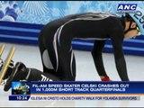 Fil-Am skater Celski crashes out of short track quarters