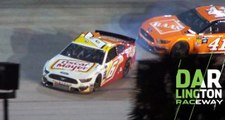 Contact with Suarez sends Newman spinning