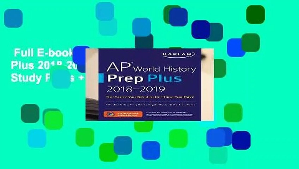 Full E-book AP World History Prep Plus 2018-2019: 3 Practice Tests + Study  Plans + Targeted
