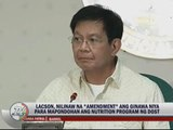 Lacson: Lawmakers get P1-B 'extra' funds
