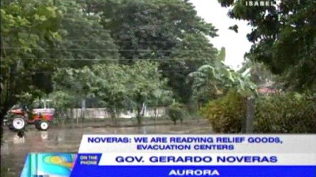 Aurora preparing relief goods, evac centers ahead of 'Santi'