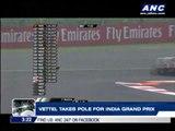 Vettel takes pole for India Grand Prix