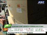 Customs chief inspects foreign aid at NAIA