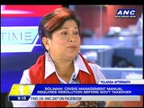 Dinky denies food donations sold in Manila stores
