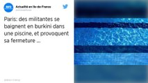 Paris : Des militantes féministes et musulmanes se baignent en burkini, la piscine ferme