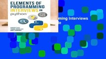 [FREE] Elements of Programming Interviews in Python: The Insiders  Guide