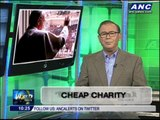 Teditorial: Cheap charity