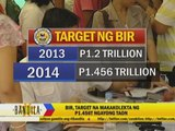 BIR targets P1.4-trillion tax collections for 2014
