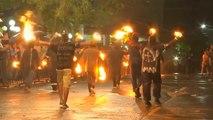 El Salvador: Traditional fireball festival in the streets of Nejapa