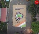 Blind persons stitch 66 ft jute bag to create awareness against plastic use