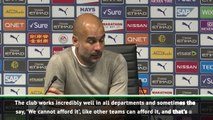 City couldn't afford another defender - Guardiola