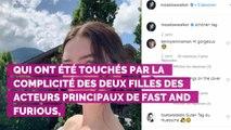 """PHOTO. """"Mon ange"""" : les filles de Paul Walker et Vin Diesel se réunissent sur Instagram"""