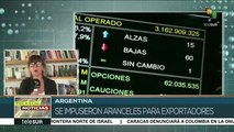 teleSUR Noticias: Argentina: se impusieron aranceles para exportadores