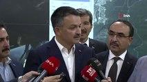 Tarım ve Orman Bakanı Bekir Pakdemirli, Yangın Kontrol Merkezinde açıklamalarda bulundu