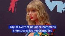 Taylor Swift et Beyoncé les chanteuses les mieux payées de la liste Forbes