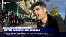 Pour dénoncer le manque de moyens, les enseignants et le personnel de ce lycée d'Asnières-sur-Seine ont fait grève le jour de la rentrée