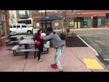 STREET BOXING Gone WRONG !!!! (someone gets knocked out) #boxing #GLOVESUP