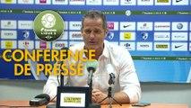 Conférence de presse Grenoble Foot 38 - RC Lens (2-2) : Philippe  HINSCHBERGER (GF38) - Philippe  MONTANIER (RCL) - 2019/2020