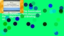About For Books  The Associated Press Stylebook 2015 (Associated Press Stylebook and Briefing on
