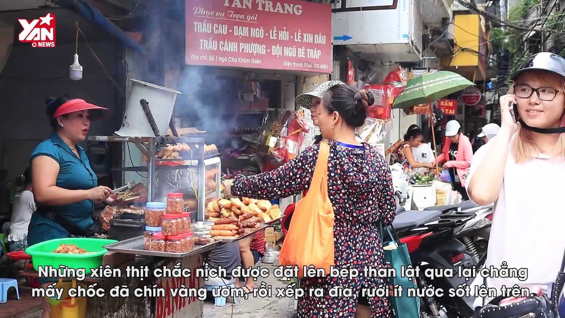 Thịt Cuốn Mía thơm nức mũi ngõ chợ Khâm Thiên - Xuất hiện trên Kênh Trải nghiệm Ẩm thực Hàn Quốc