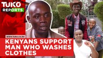 Man washing clothes to provide for sick wife receives massive support from Kenyans | Tuko TV