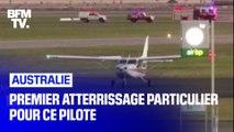 Cet Australien est contraint d'atterrir seul lors de sa première leçon de pilotage