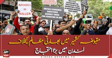 London protests against Indian atrocities in occupied Kashmir